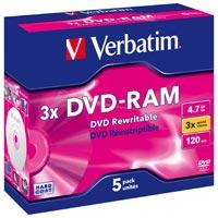 Verbatim DVD-RAM 4.7 GB 3x JC (5) - 43450