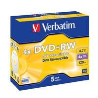 Verbatim DVD+RW 4.7 GB 4x JC (5) - 43229