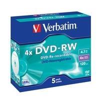 Verbatim DVD-RW 4.7 GB 4x JC (5) - 43285