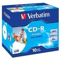 Verbatim CD-R 80 700 MB 52x JC (10) IWP - 43325