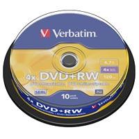 Verbatim DVD+RW 4.7 GB 4x CB (10) - 43488