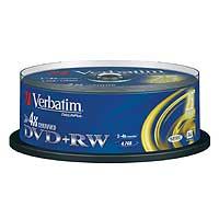 Verbatim DVD+RW 4.7 GB 4x CB (25) - 43489