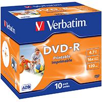 Verbatim DVD-R 4.7 GB 16x JC (10) IWP - 43521