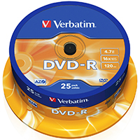 Verbatim DVD-R 4.7 GB 16x CB (25)