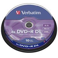 Verbatim DVD+R 8.5 GB 8x CB (10) DL - 43666