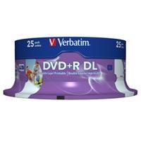 Verbatim DVD+R 8.5 GB 8x CB (25), DL IWP - 43667