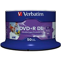 Verbatim DVD+R 8.5 GB 8x CB (50), DL IWP - 43703