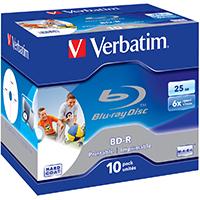 Verbatim Blu-Ray 25 GB 6x Recordable JC (10) IWP - 43713