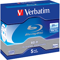 Verbatim Blu-Ray 25 GB 6x Recordable JC (5) - 43715