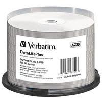 Verbatim DVD+R 8.5 GB 8x CB (50), DL TWP - 43754