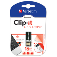 "Verbatim USB 2.0 ""Clip-it"" 16 GB Black (1)"