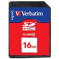 Verbatim SD Card 16GB SDHC Class 4 T-Blister (1) - 44020