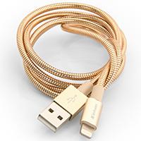 Verbatim USB 2.0 Lightning Sync- & Ladekabel 100cm (Gold) Stainless Steel