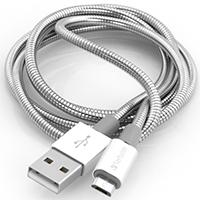 Verbatim USB 2.0 / Micro USB Sync- & Ladekabel 100cm (Silber)