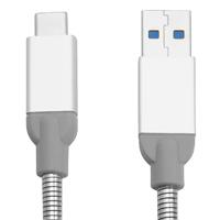 Verbatim Sync-/Ladekabel USB 3.1/Typ C auf Typ A - 30cm Stainless Steel (Silber)
