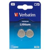 Verbatim Batterie Lithium CR2032 3V (2) - 49936