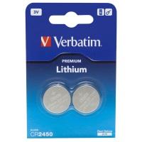 Verbatim Batterie Lithium CR2450 3V (2) - 49938