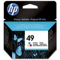 HP 49 Cyan/Magenta/Gelb Original Tintenpatrone groß - 51649AE