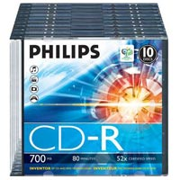 Philips CD-R 80 700 MB 52x SC (10) - CR7D5NS10/00