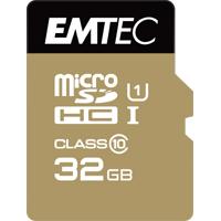 EMTEC Micro SDHC Card 32GB, Class 10, Gold+