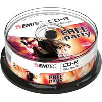 EMTEC CD-R 700MB 52x, 25er CakeBox