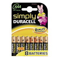Duracell Plus Power AAA (MN2400/LR03) Blister (8)