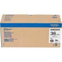 Brother HG Schriftbandkassette 5er Pack P-Touch 9500/9700/9800/RL700 - HGE261V5