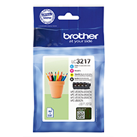 Brother Ink LC-3217VALDR Value Pack bl/c/m/y, MFC-J53xx/65xx/59xx