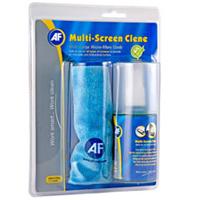 AF Multiscreen-Clene / Mikrofasertuch + Bildschirmreiniger