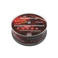 MediaRange CD R 100 900MB 48x CB 25