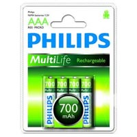 Philips Akku - Micro AAA (4) - R03B4A70/10 - 700mAh - R03B4A70/10