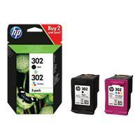 HP 302 Original Ink Cartridge Combo 2-Pack