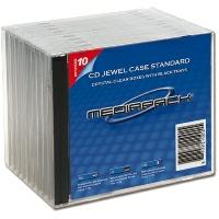 MPI CD JewelCase Standard schwarz 10er Pack